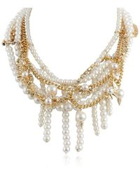 Sam Edelman - Pearl Chain Collar Necklace, 16 - Lyst