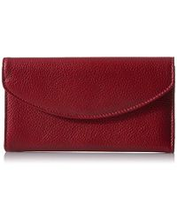 Buxton - Roma Check Clutch, Dark Red - Lyst