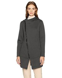 Betsey Johnson - Bonded Tech Fleece Coat - Lyst