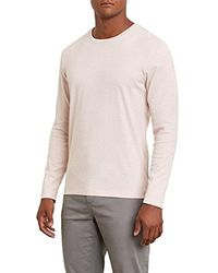 Kenneth Cole - Long Sleeve Two-tone Crew - Lyst