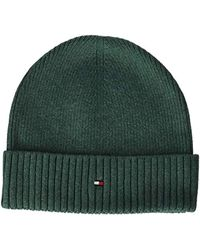 108aa90585e Tommy Hilfiger Pima Cotton Cashmere Beanie in Blue for Men - Save ...
