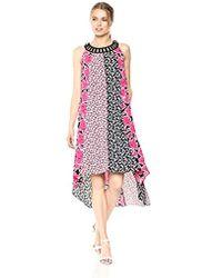 Jones New York - Mixed Print Hi Low Hem Dress - Lyst
