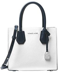becffa79525400 Michael Kors Michael Mercer Leather Messenger Bag - Lyst