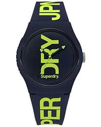 Superdry - 'urban' Quartz Plastic And Silicone Casual Watch, Color:blue (model: Syg189un) - Lyst