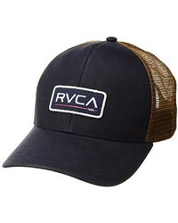 premium selection 796e2 aaa4e RVCA Ticket Trucker Hat in Black for Men - Lyst