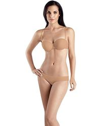 7a15a99c160ed Lyst - Hanro Allure Deep Plunge Padded Bra in Natural