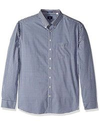 GANT - Shirts Classic Broadcloth Gingham, Persian Blue, Small - Lyst