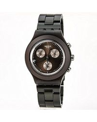 Swatch - Svcc4000ag Plastic Analog With Brown Dial Watch - Lyst