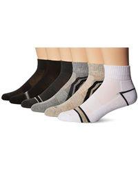 Perry Ellis - Portfolio Free Style 6 Pack Performance Quarter Socks - Lyst