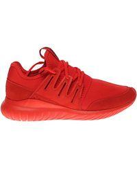 518a0577b28 ... real adidas originals tubular radial fashion sneaker lyst e3be3 3383c