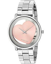 cf9be34814aa Michael Kors - 38mm Libby Rose Two-tone Pav  Analog Bracelet Watch - Lyst