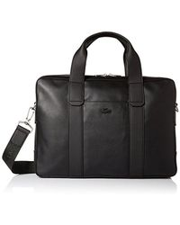 Lacoste - Full Ace Computer Bag, Black - Lyst