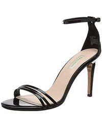 2f8fd20e6e0f Dune Heaven Tbar Embellished Heeled Sandals Black in Black - Lyst