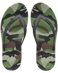 498103076 Fitflop Iqushion Ergonomic Flip-flops in Green for Men - Lyst