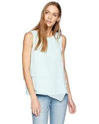 Calvin Klein - Sleeveless Top Asymmetrical Hem - Lyst