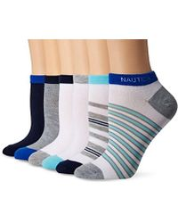 Nautica - Stripe 6pp Fashion No Show Socks - Lyst