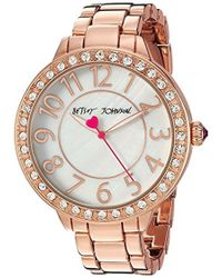 Betsey Johnson - Quartz Metal And Alloy Casual Watch, Color:rose Gold-toned (model: Bj00397-25) - Lyst