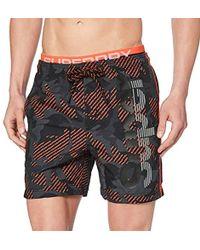 Superdry State Volley Swim Short Pantalones Cortos para Hombre - Negro