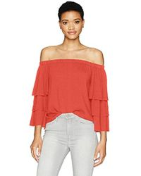 3059160497544f Lyst - Ella Moss  stella  Off The Shoulder Blouse in Black