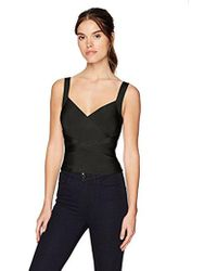 Guess - Sleeveless Cropped Mirage Crossover Top - Lyst