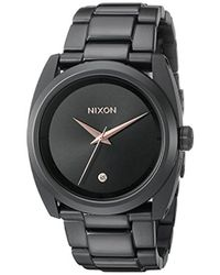 Nixon - A935001 Queenpin Analog Display Japanese Quartz Black Watch - Lyst