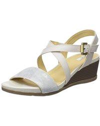 704ee9fb662 Geox - D Marykarmen A Flatform Sandals - Lyst