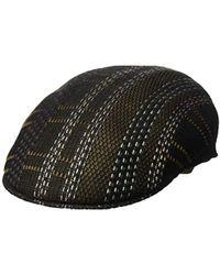 Lyst - Levi S Men s Tonal Plaid Flat-top Cap in Brown for Men d1029b8d5315