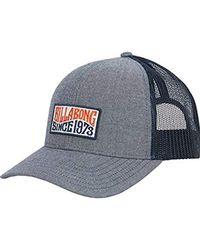2f9cab484f9c9 Lyst - Billabong Men s Walled Trucker Hat in Blue for Men