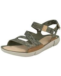 c6aa129e198 Clarks Tri Ariana Cross Strap Sandals in Black - Lyst
