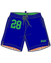 d0304ebcf7 Superdry Miami Water Polo Shorts in Blue for Men - Lyst