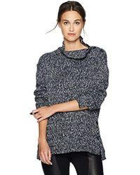 William Rast - Charlie Step Hem Long Sleeve Knit Sweater - Lyst