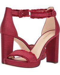 Nine West - Daranita Fabric Heeled Sandal - Lyst