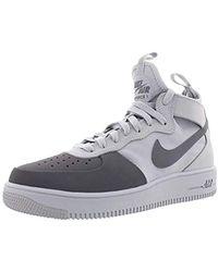 29565f4f0 Nike - Air Force 1 Ultraforce Mid, Black/black-white - Lyst