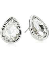 Kenneth Cole - Crystal And Tear Drop Stud Earrings - Lyst