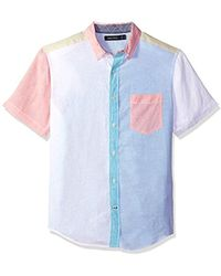 Nautica - Short Sleeve Classic Fit Solid Linen Button Down Shirt - Lyst