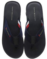 Tommy Hilfiger - Elevated Leather Beach Sandal Flip Flops - Lyst