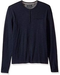 Buffalo David Bitton - Katain Long Sleeve Henley Knit Shirt - Lyst