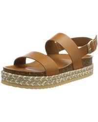 4f29f9938fb ALDO Jerilassi Ankle Strap Sandals in Brown - Lyst