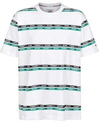 254d288f Tommy Hilfiger Tjm Signature Stripe Logo Tee T-shirt in White for ...