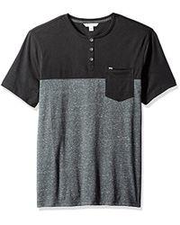 CALVIN KLEIN 205W39NYC - Jeans Short Sleeve Color Block Henley Shirt - Lyst