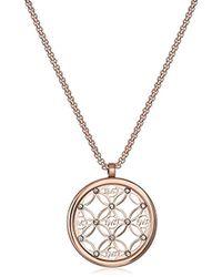 Michael Kors - Mk Open Monogram Disc Pendant Necklace - Lyst