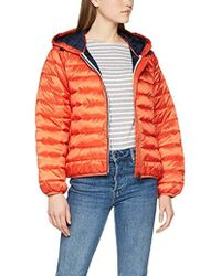cef4a8bf Tommy Hilfiger - Short Padded Hooded Short Down Jacket - Lyst