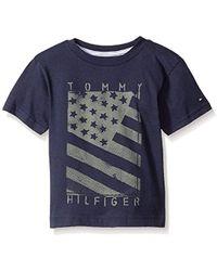 Hilfiger Denim - Tommy Hilfiger Little Boys' Neg Flag Tee, Swim Navy, 5 - Lyst