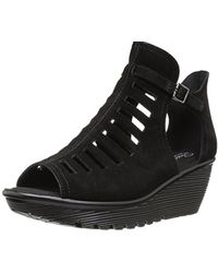 Skechers - Parallel-corp Ladder-caged Peep Toe Qtr Cut Wedge Sandal - Lyst
