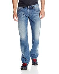 DIESEL - Larkee Regular Straight Leg Jean 0800z - Lyst