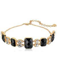 Anne Klein - Gold-tone Jet Choker Necklace - Lyst