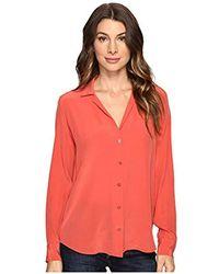 5d22eedd7236 Equipment Adalyn Floral Button Shirt in Black - Lyst