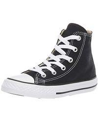 Converse Youths Chuck Taylor All Star Hi Zapatillas de tela, Unisex - Negro
