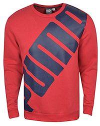PUMA - Big Logo Crewneck Sweatshirt - Lyst