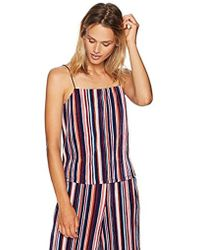 PARIS SUNDAY - Spaghetti Strap Pleated Crop Camisole Top - Lyst